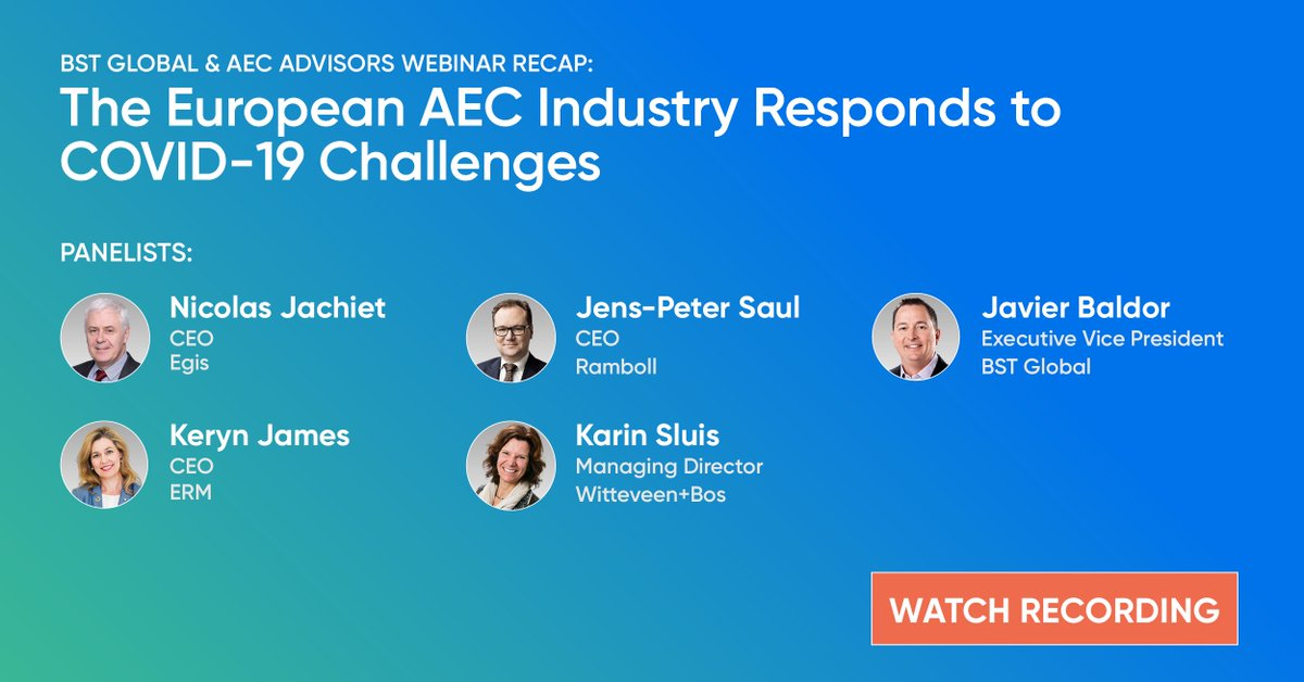 test Twitter Media - RECAP: @JavierBaldor from @BSTGlobal along with leaders from @Egis, @erminsight , @ramboll and @WitteveenBos weigh in on business challenges and solutions in light of COVID-19. Thank you, panelists and partners. Watch Now https://t.co/hdeojlT0hj https://t.co/YsO80sNI5Z