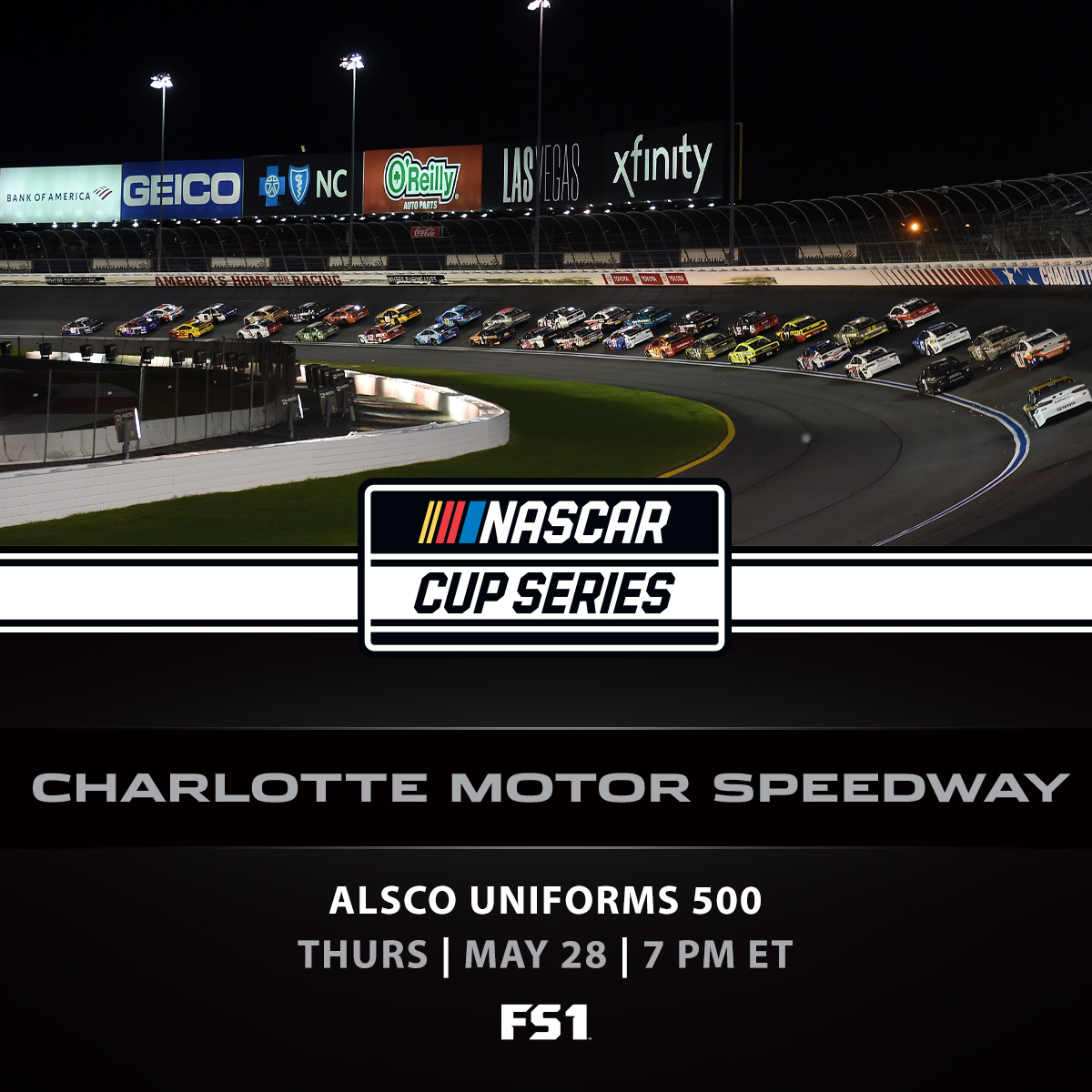 Thursday night thunder at @CLTMotorSpdwy?  SIGN. US. UP. 🔥  #NASCAR | #Alsco500 https://t.co/fep4ap97nz