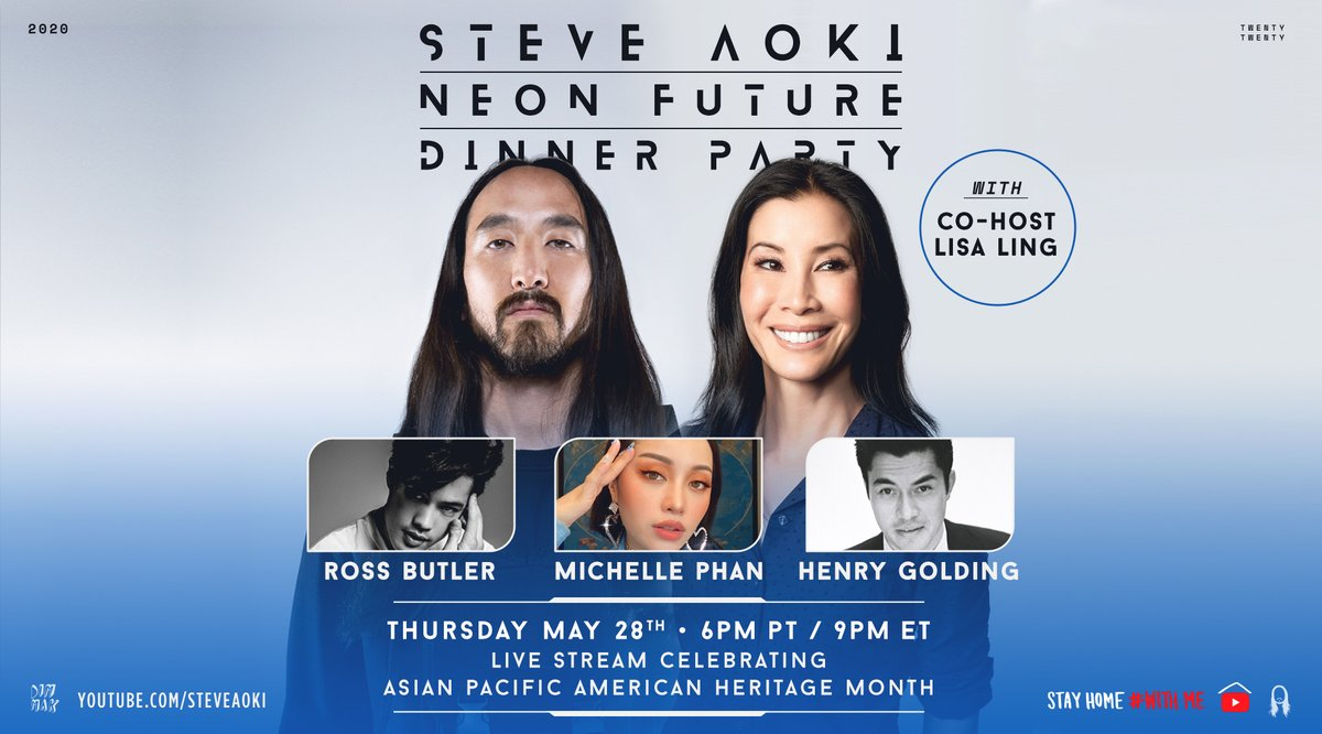 Celebrating AAPI Heritage Month with some truly inspirational guests @henrygolding @MichellePhan @RossButler and an awesome co-host @lisaling    6PM PT  Facebook, Twitch, YouTube Live!pic.twitter.com/dXDD6qXHpU