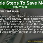 Image for the Tweet beginning: SIMPLE #TIPS TO #SAVE #MONEY  TODAY