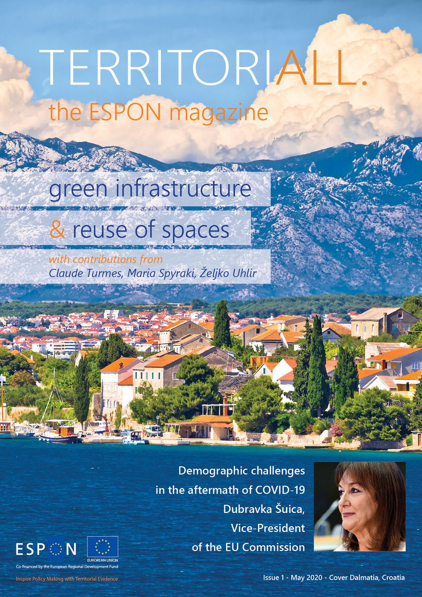👍1st edition of ESPON magazine is out, with great articles on ESPON projects in #greeninfrastructure, #naturebasedsolutions #circulareconomy and more...🖥️
