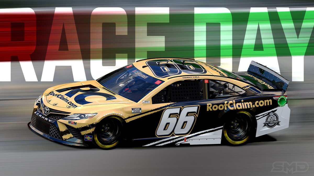 1 hour away from tonight's @NASCAR Cup Series race on @FS1! Tune in tonight and cheer on our @RoofClaimUS Toyota!