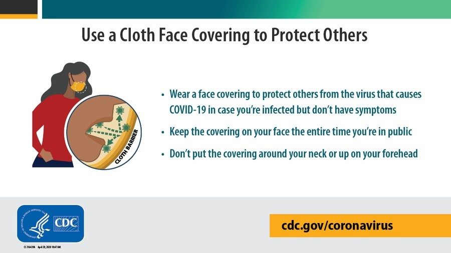 Are you wearing your cloth face covering correctly? Check out these @CDCgov tips on how to safely wear and remove your cloth face covering: cdc.gov/coronavirus/20…