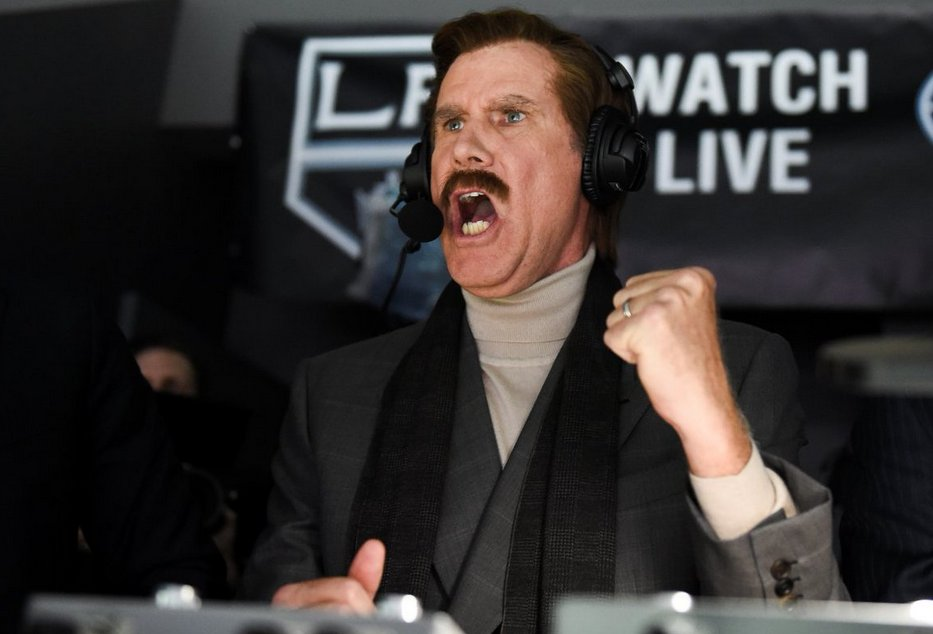 Tonight beginning at 8 p.m.  Kings v Sharks with Ron Burgundy in the Kings TV booth. #KindofaBigDeal .... @FoxSportsWestpic.twitter.com/88whQJpYSG