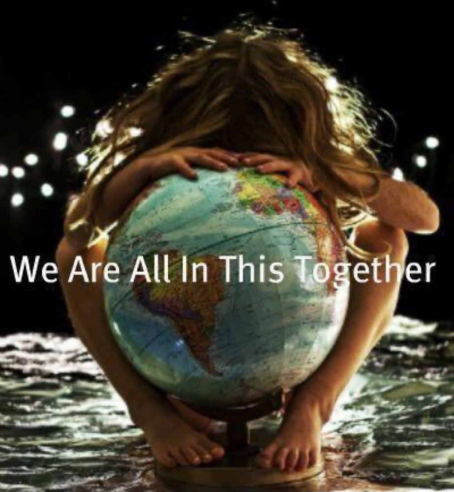 🌍 #WeAreAllInThisTogether https://t.co/fJdKw8MtGF