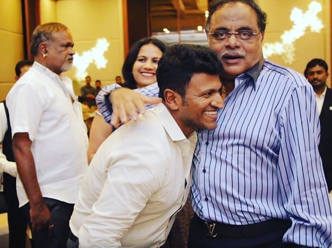 Happy Birthday to #RebelStar #Ambareesh sir...🎂❤😘  @PuneethRajkumar @sumalathaA  #HBDAmbareesh
