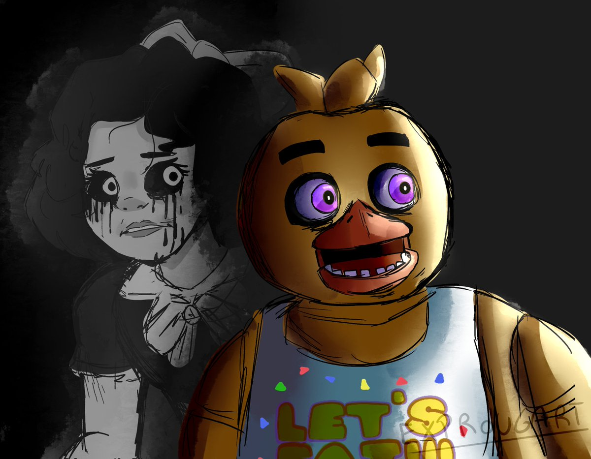 i got inspired, so here's another chica #FNAF #Fivenightsatfreddys #Chica #Susie https://t.co/CPuVYgMDlK