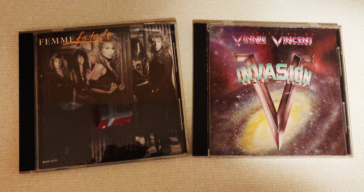 Good day at the CD store. @80sGlamMetal1  #VinnieVincent #FemmeFatale pic.twitter.com/RVG6Ua9TKf