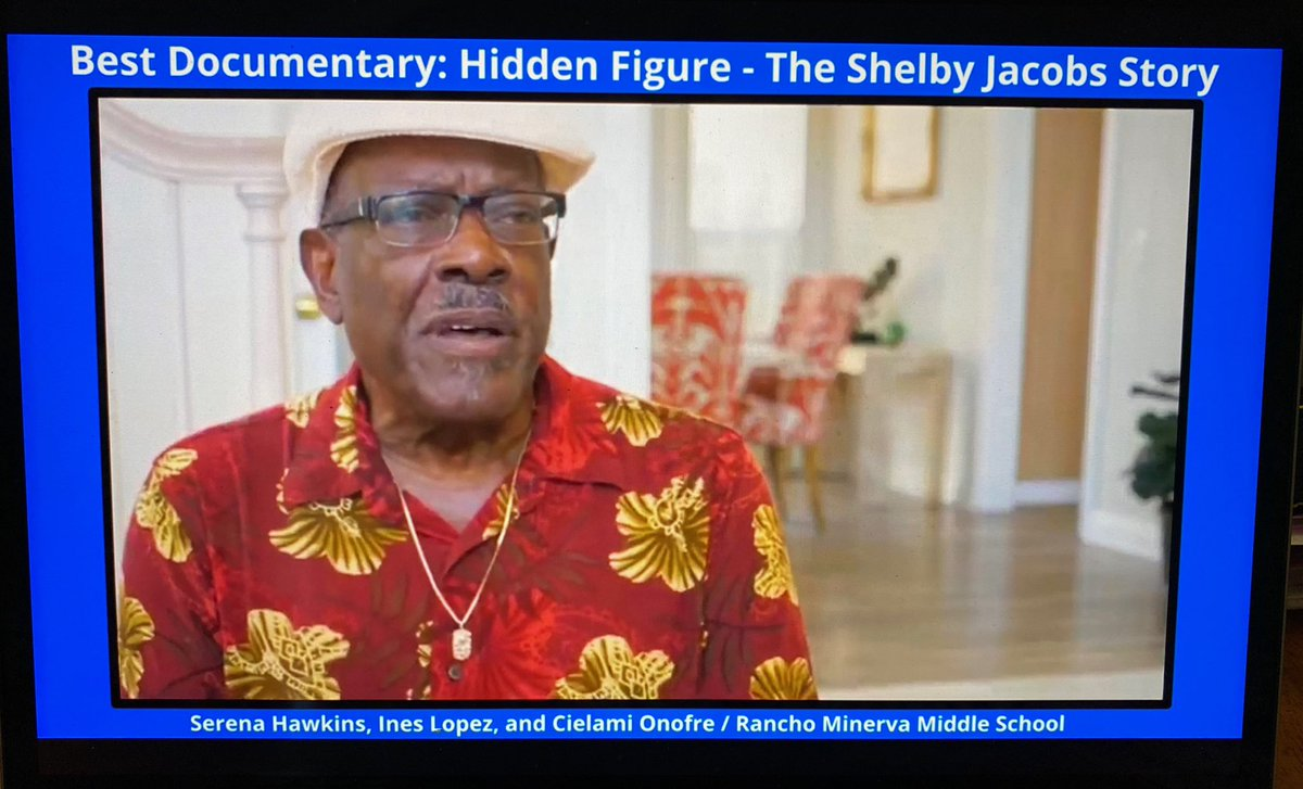 """Congrats  to our @RMMSbulls competitive video team for winning Best Documentary for the 2020 North County High School Film Festival! A big shout out to our all-girl team for producing """"Hidden Figure: The Shelby Jacobs Story"""" @cffsd @VistaBlueprint #gobulls <br>http://pic.twitter.com/8UkjTKGFbe"""