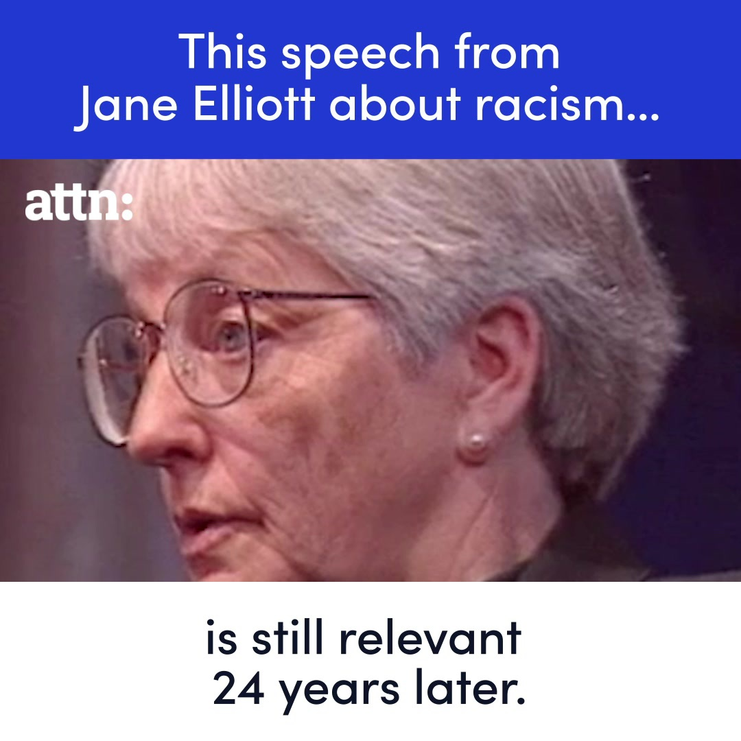 This speech from Jane Elliott about racism is still relevant 24 years later. https://t.co/XHszqbgyjR