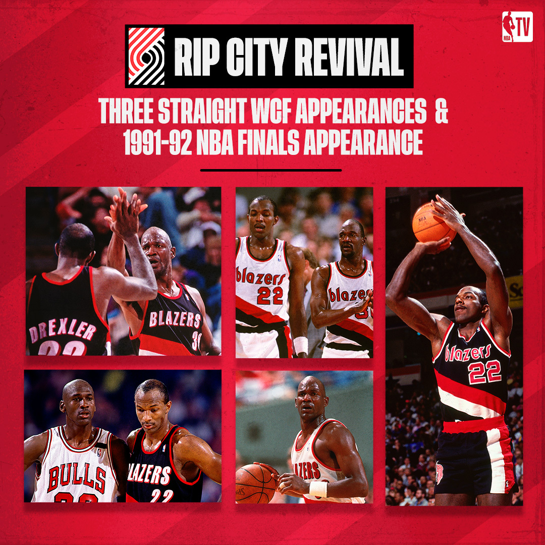 The @trailblazers were dominant back in the day! 😤   Don't miss Basketball Stories: Rip City Revival at 8pm ET on NBA TV! https://t.co/5tlzoyOIr4