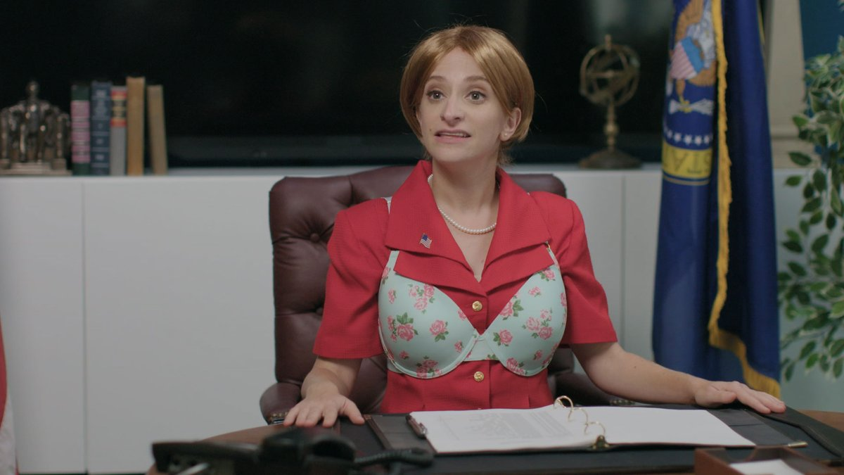 Lady President has an important video conference, but she's having problems with her bra! https://t.co/LIHBYwip2f