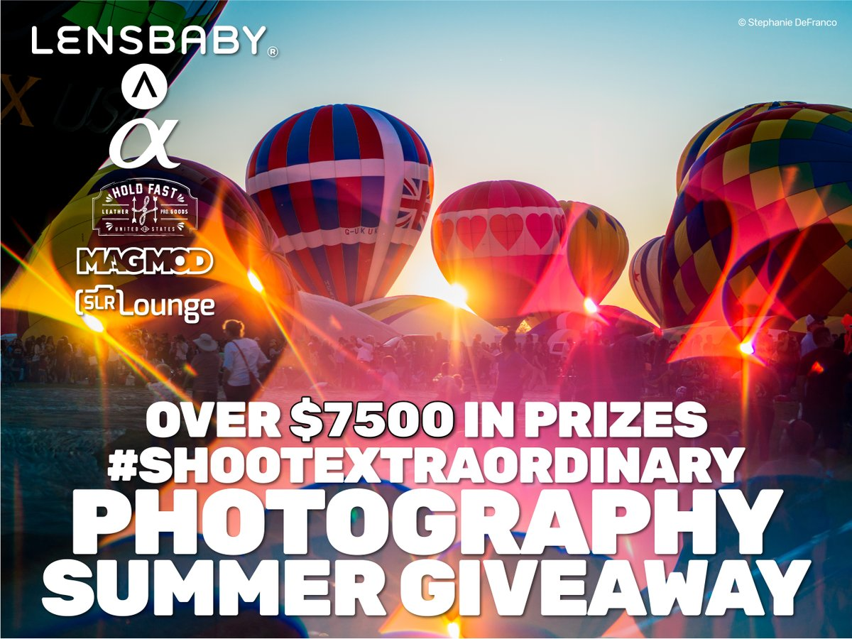 The #ShootExtraordinary Summer Contest is in full swing. Enter for your chance to win over $7500 in photography tools and prizes! Enter here: https://lensba.by/ExtraOrdinarySummer …pic.twitter.com/2OWqXATjtf