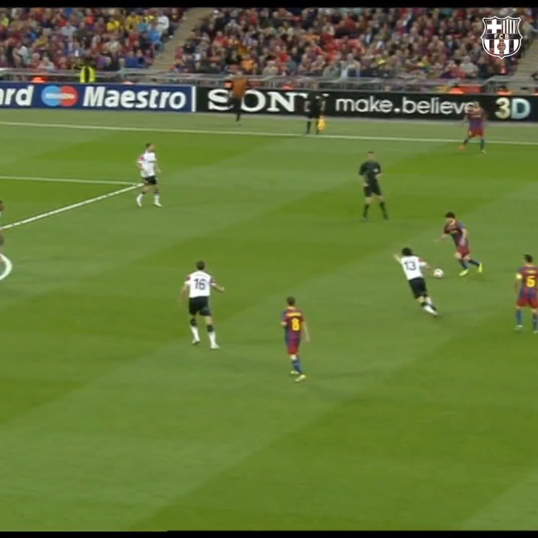 The go-ahead goal. In a @ChampionsLeague final. #OnThisDay2011 #Messi