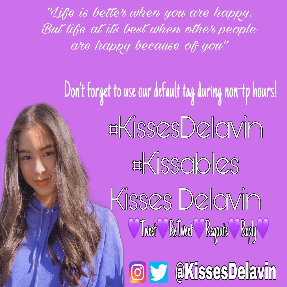 Life is better when you are happy. But life at its best when other people are happy because of you. Good Morning!  @KissesDelavin  #KissesDelavin | Kisses Delavin #Kissablespic.twitter.com/4hpc880kSK