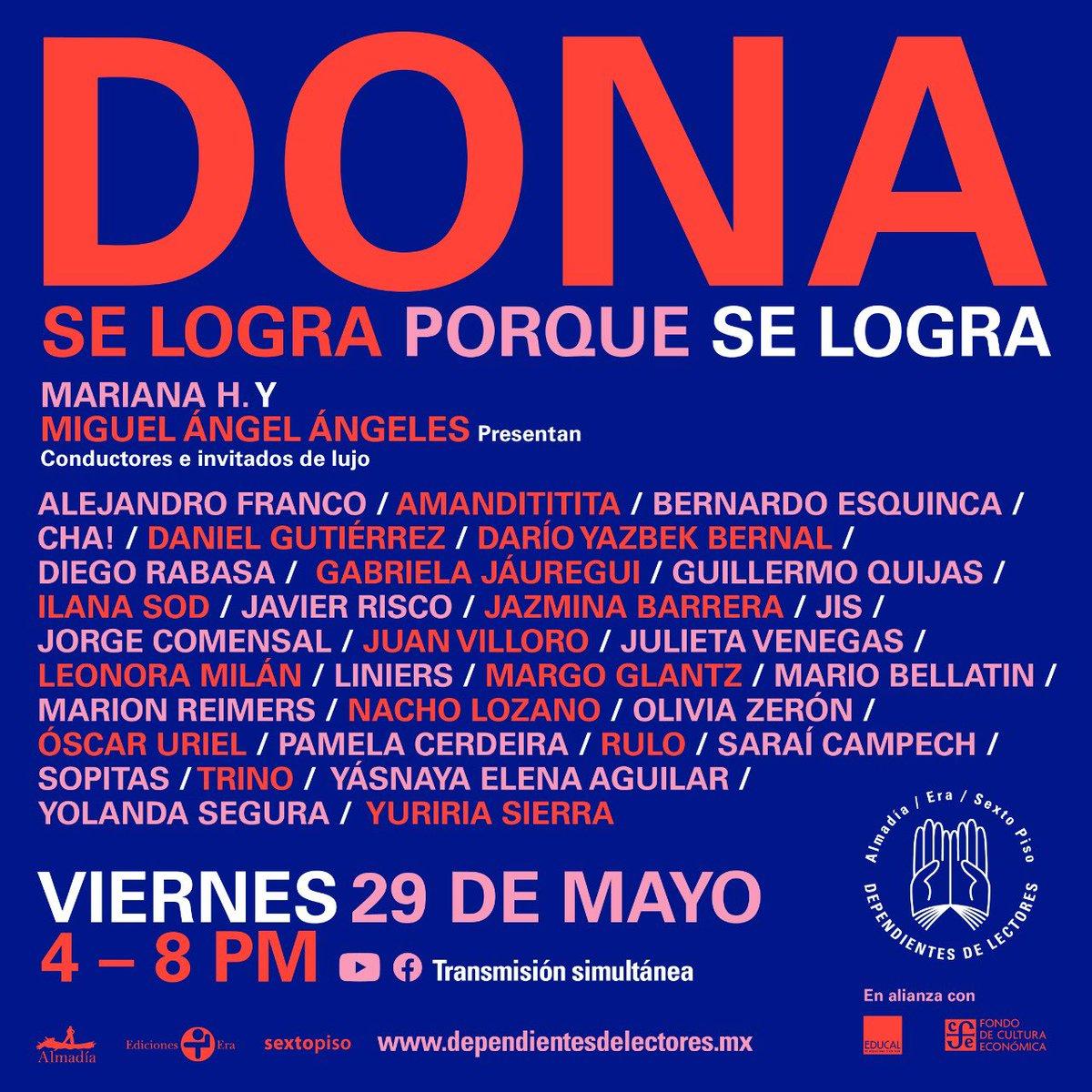 Mañana #SeLograPorqueSeLogra,💥💥💥 un maratón de donaciones que trasmitiremos en vivo en el canal YouTube #DependientesDeLectores. Un último esfuerzo de amigos periodistas con la intención de ayudarnos a lograr la meta 💕 https://t.co/Vp7j02rEdW