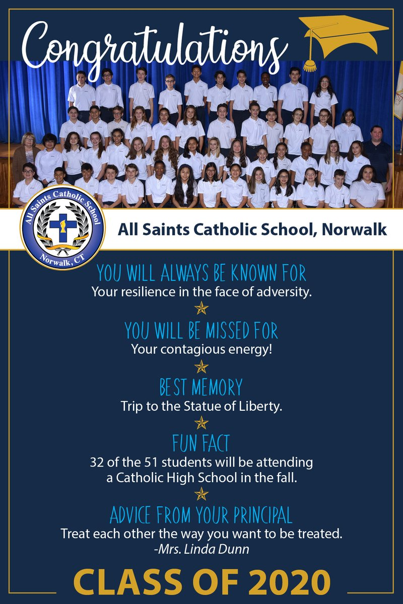 test Twitter Media - Today we celebrate our graduating students from @ascsnorwalk! Please continue to send blessings and prayers to each of them as we share each Class of 2020 with you!  @Diobpt @BptSup #ClassOf2020 @Norwalk_CT https://t.co/49Uf16Y1Ea