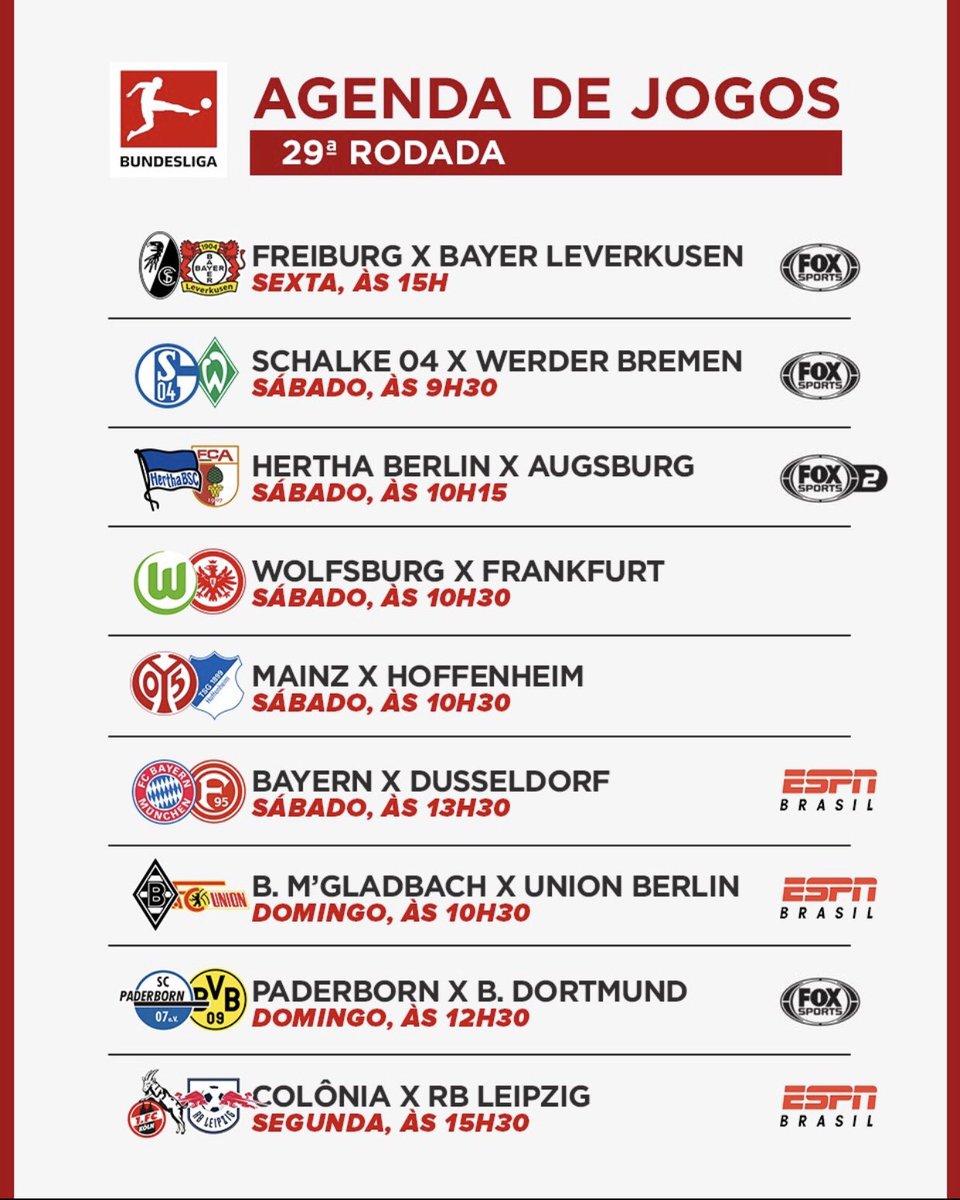 RT @CentralFoxBR: ⚽️🇩🇪 Confira a rodada 29 do #AlemãoFOXSports!!!  #JogaemCasa https://t.co/gYMufBfZlm