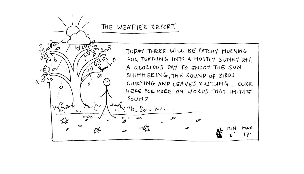 Today's weather... Follow the link for more on words that imitate sound https://t.co/WmApnwhFtS https://t.co/CJX6rH3BQh