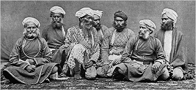 The word Thug comes from the Hindi word Thuggee which was a group of people in North India that allegedly bothered the British. Here is a picture of a gang of Thugs from 1894.