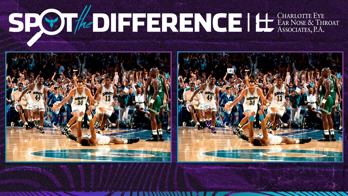 We could stare at this frame-worthy moment forever. 🤩 Can you find all 5 differences? 👀 @ceenta | #NBATogether