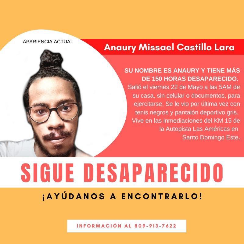 Anaury Castillo, joven de 21 años, estudiante de derecho en la UASD, y orgullo dominicano, se encuentra desaparecido desde el 22/05/2020. Se le vió por última vez cuando salió a hacer ejercicios a las 5AM de su residencia en los Frailes, Santo Domingo Este. #EncontremosaAnaury https://t.co/suRANPZkXS