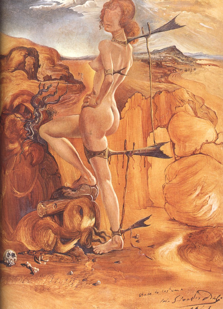 Costume for a Nude with a Codfish Tail, 1941 #spanishart #dali pic.twitter.com/GstIxL2xGK