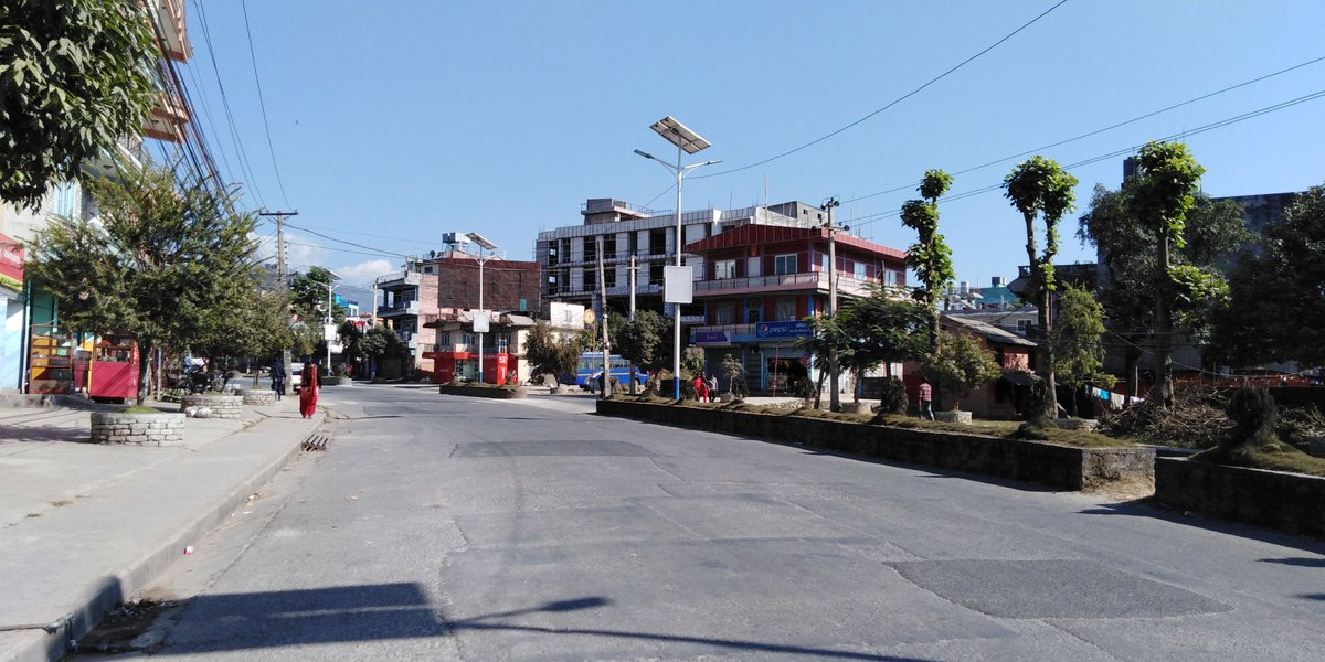 Day 67 of #COVID19 #lockdown in #Nepal. Good morning from windy #Pokhara.  #CoronaCases: 1042 #LockdownExtension: June 2, 2020 #CoronaDeath: 5 #Recovery: 187   How's your place during lockdown? Mine's here.pic.twitter.com/OSH7t0Lnz8 – at Shantinagar Chowk