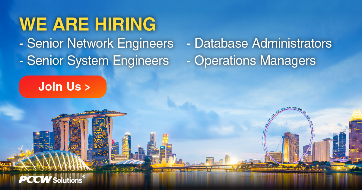 We are #hiring in #Singapore with over 200 open positions! If you meet the requirements for any of our open #roles, we invite you to #apply and be part of the PCCW Solutions Insys Family! Click here for details: https://t.co/dpDKZ9gc2w https://t.co/3r6wZWhrF3