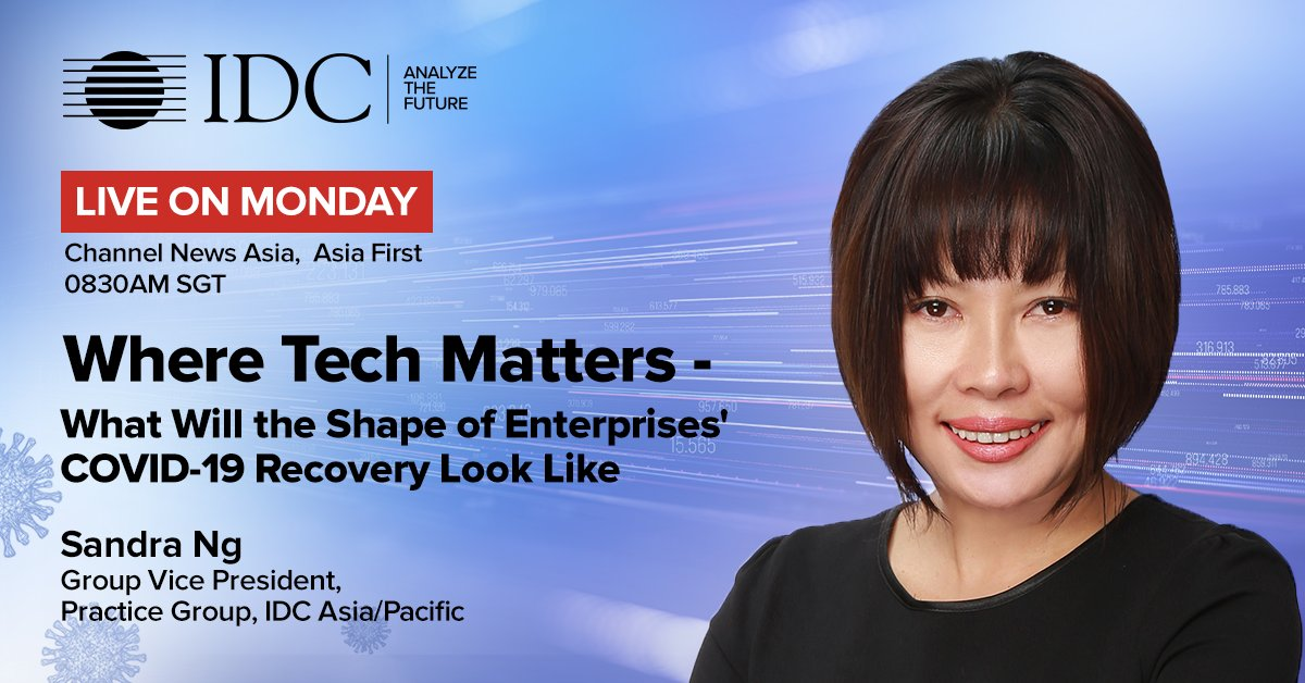 What changes should you anticipate as economies re-open amid #COVID19? Catch @IDC's @ngsiangchin LIVE on @ChannelNewsAsia as she discusses how your organization can move from a pure Response to a Response + Recovery #tech approach. https://t.co/bRrfPFhpRZ