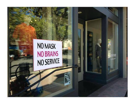 Replying to @johnlundin: No Mask, No Brains, No Service
