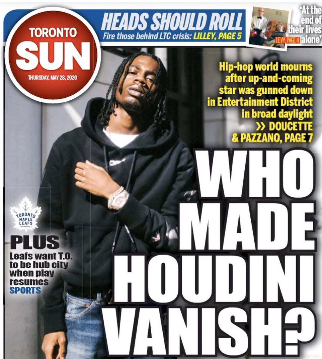 This cover is not ok. Black lives aren't trivial. Violent crime is not funny. This lacks journalistic integrity and moral conscience. Be better @TheTorontoSun https://t.co/ld8VK9ITKc