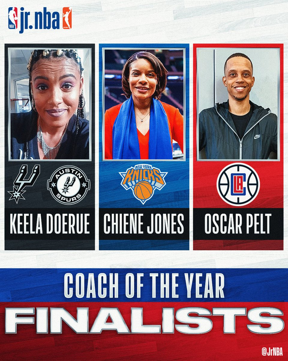 Congrats to our THREE FINALISTS for 2020 #JrNBACOY 👏   Learn more about these coaches 👉 @JrNBA https://t.co/Qc7WoXebbX