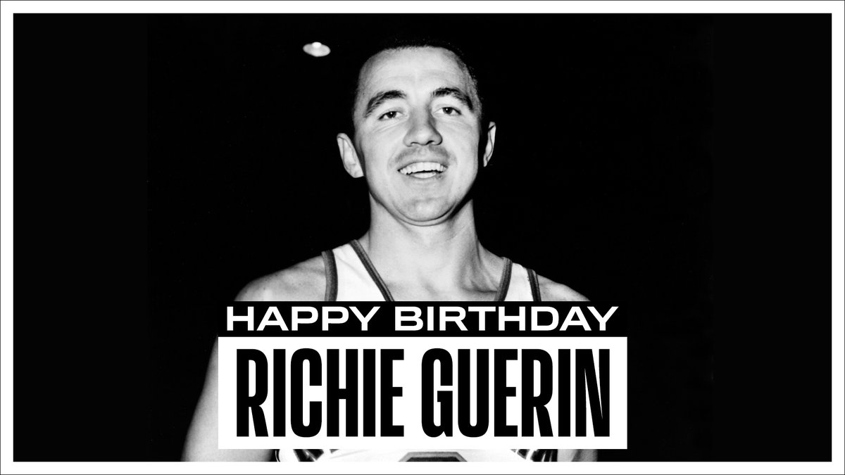 Join us in wishing a Happy 88th Birthday to 6x #NBAAllStar and @Hoophall inductee, Richie Guerin! #NBABDAY https://t.co/VVetQGeoNN