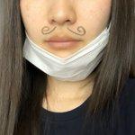 1日中マスク外さなければバレない?謝罪の前にマスクの下に油性ペンでヒゲを書く!