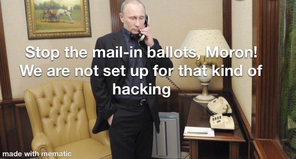 @realDonaldTrump The boss doesn't like mail in ballots!! https://t.co/4hiwz3jl28