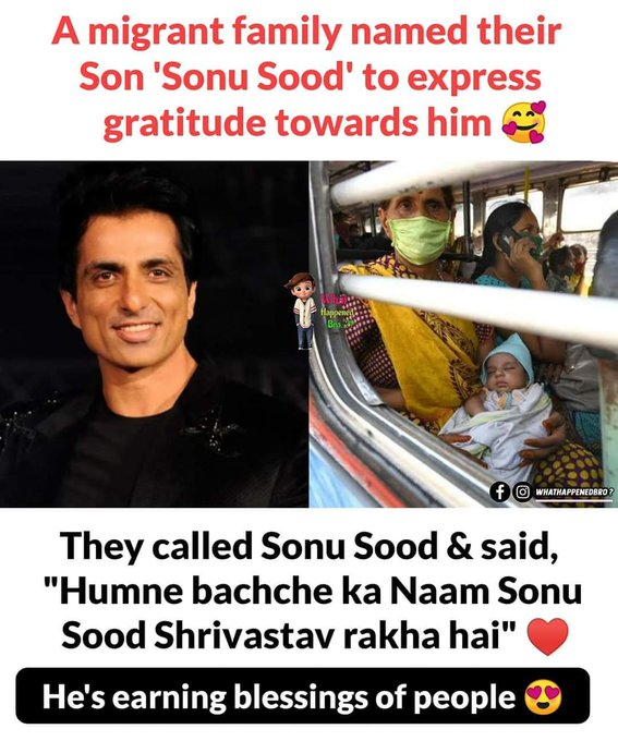 Sonu Sood (born 30 July 1973) is an Indian film actor, model, and producer who acts predominantly in Hindi, Telugu, Tamil, Kannada and Punjabi films.