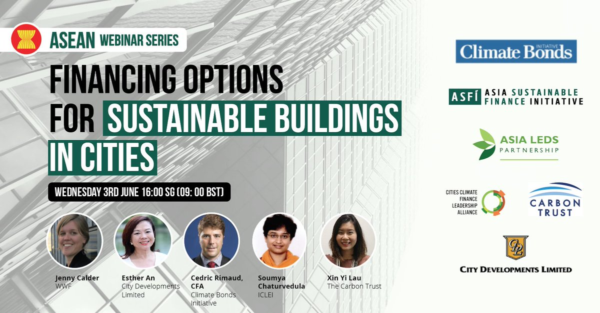 What does it take to finance a #sustainablecity in these unprecedented times? 🏙️💸Find out and engage with experts from @ClimateBonds, @thecarbontrust, @ICLEI, @CityDevLtd and @wwfsg on 3rd June, 4PM SGT. Register:zoom.us/webinar/regist…