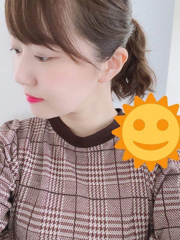 暑すぎて、今日はポニーテール( ꒪⌓꒪)(三澤)