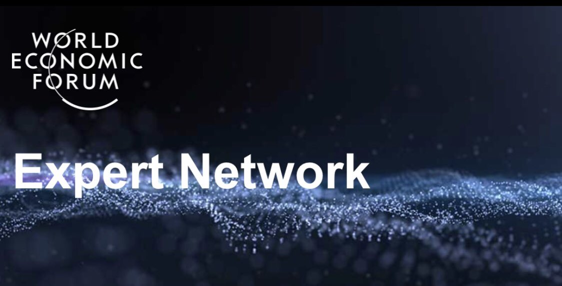 I am honored to join the Expert Network for #Blockchain of the World Economic Forum (WEF) joining good friends like @Melt_Dem @jenzhuscott or @dtapscott