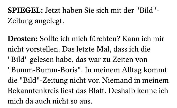 Christian Drosten und die BILD werden keine Freunde mehr. 🔥 (Via @derspiegel) https://t.co/GiiGMACQFW