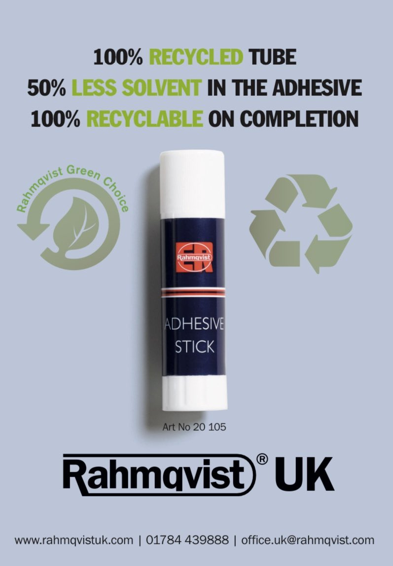 Single use plastic is not restricted to bottles; tens of millions of Gluestick tubes end up in landfill every year! Today @Rahmqvistuk have a better solution for you  #sbltwitter #sbmtwitter #edutwitter #nischoolleaders #Recycle #sustainability https://t.co/Ry9NNKHhdZ