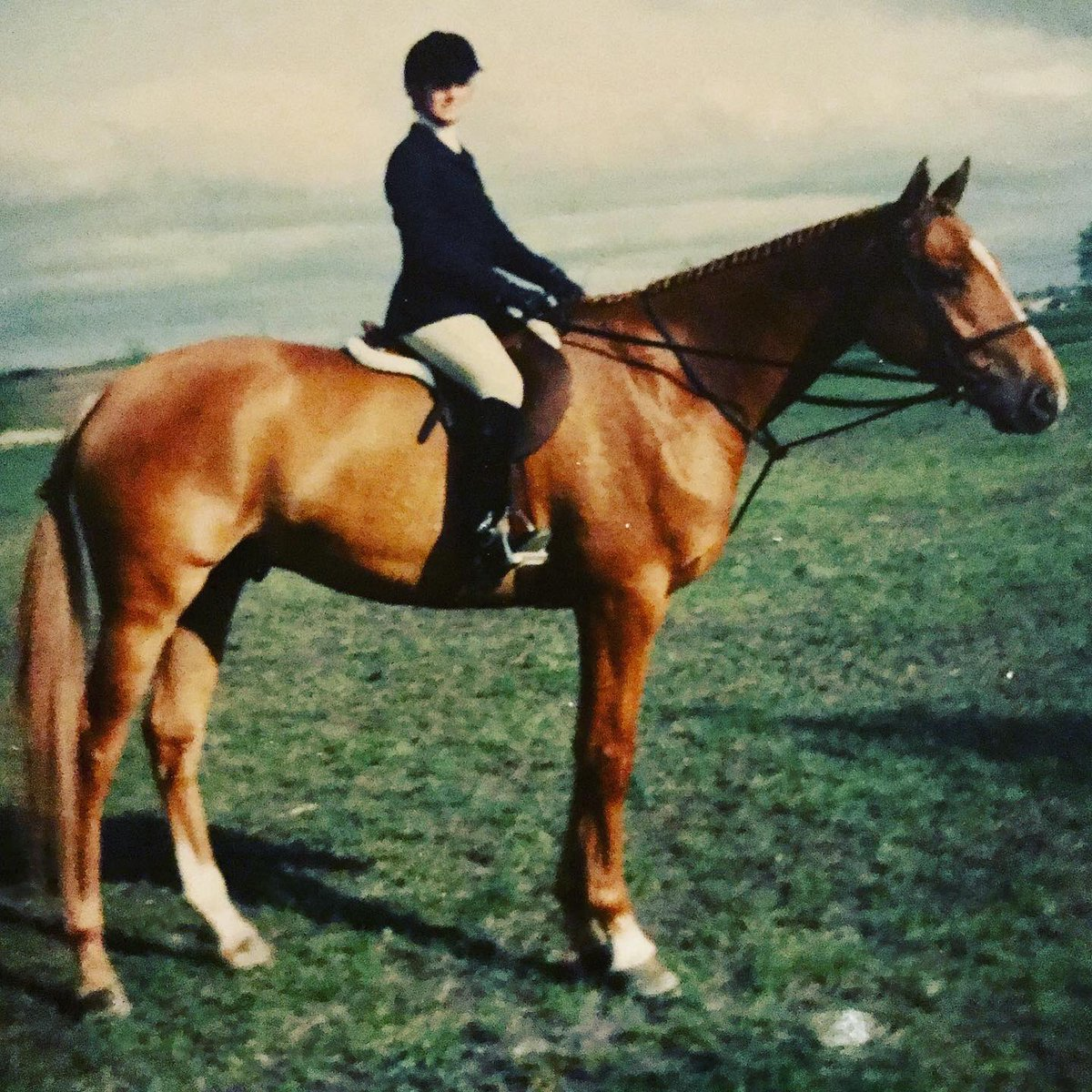 #TBT ...that's me at 14! On my second horse Skipper (show name 'Easy Does It') he was 4 and this was our first show together in Red Deer...we were Childrens Champions #horselove #showjumping pic.twitter.com/3qRYc6l0od