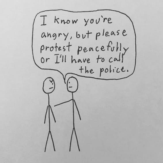Don't tell me how to feel. My 210th doodle. #doodle #georgefloyd #ahmadaudrey #icantbreathe #policebrutality #beingblackinamerica #BlackArtist #theblackexperience #justiceforahmaud #justiceforgeorge #riots #revolution @shaunking #looterspic.twitter.com/5BAjkgEI5k