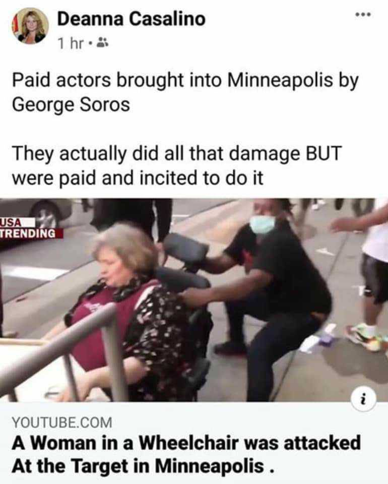 "Remember the lady that was attacked in a wheelchair during the riots in #Minneapolis ? Well here she is after the face with all the ""protesters"" #minneapolisriots #QuestionEverything #DeepState #Soros #WWG1WGA 👇🏽👇🏽 https://t.co/lMhktDSfhx"