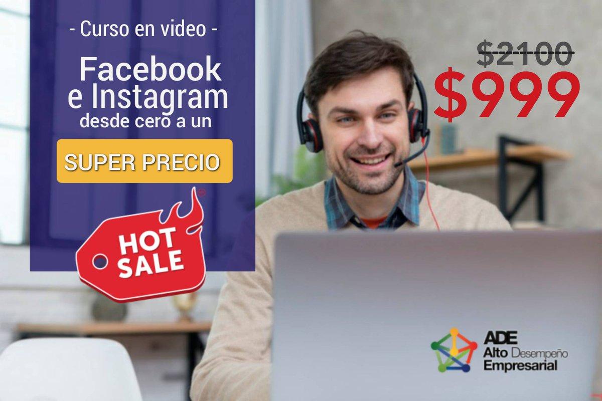 Aprovecha nuestra GRAN OFERTA POR #HOTSALE. Nuestro curso en video a precio de PROMOCIÓN:  - Aprende a hacer publicidad en Facebook e Instagram desde cero.-   De $2,100 a solo $999 pesos.   Contáctanos y APROVECHA HOY NUESTRA PROMOCIÓN.   http://www.adeconsultoria.mxpic.twitter.com/ar0yDHmDyd