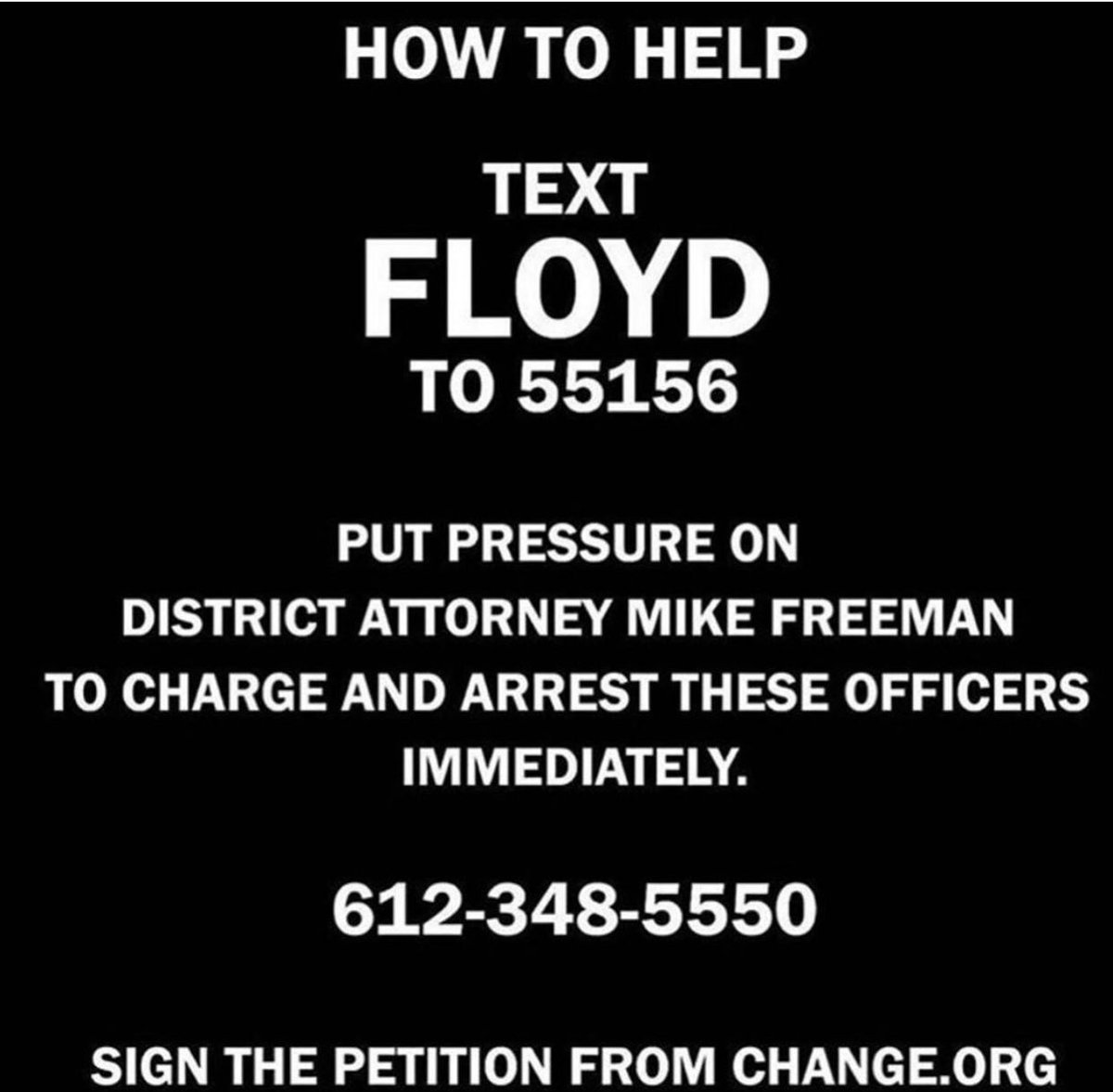 HELP CONVICT THESE KILLERS !! Text FLOYD TO 55156 naoowww!!! 🙏🏾 #JusticeForGeorgeFloyd 💔 😔