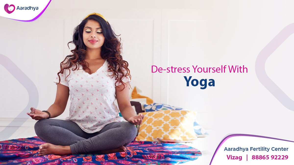 Research shows that stress is more incident in women battling infertility. Yoga will help relieve stress by releasing endorphins, that make you feel better. Start your day with Yoga.  One in 7 couples suffer infertility. Don't be one among them. Call us at +91 88865 92229. pic.twitter.com/AHeAoAgKJc