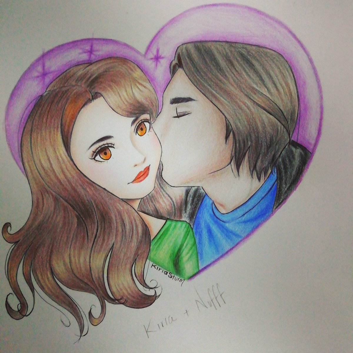 K+N  #kiss #girl #boy #couple #green #blue #oneheart #twosouls #orangelips #stars #draw #colors #beso #chica #chico #pareja #verde #azul #uncorazón #dosalmas #labiosnaranja #estrellas #morado #dibujo #colores https://t.co/2ivP5TGC4j