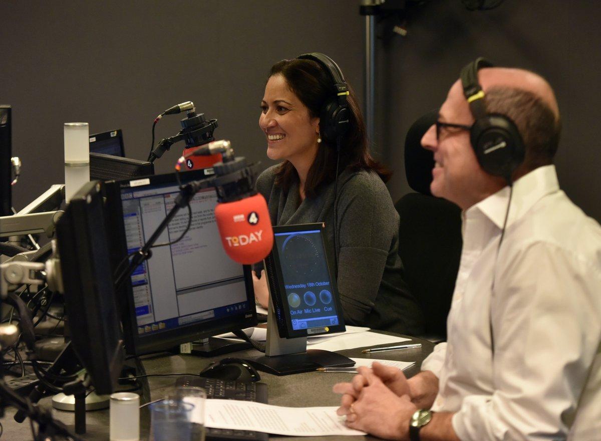 Good morning, our presenters today are @MishalHusain & @bbcnickrobinson #R4Today 🎧 📻 bbc.in/2ZKK9Mk